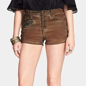 Free People Lone Ranger Lace Up Jean Short 25